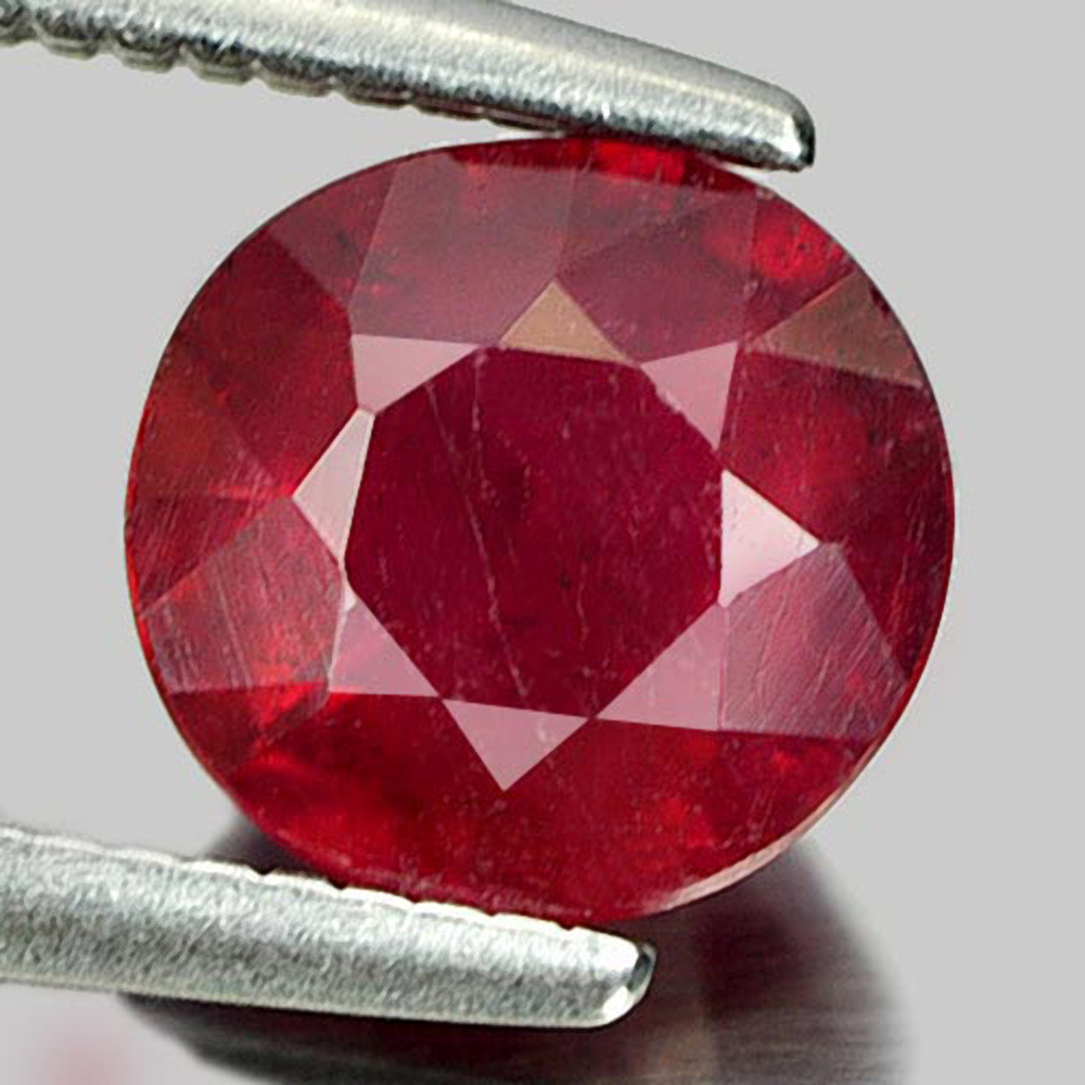 1.40 Ct. Attractive Round Shape Natural Gemstone Pinkish Red Ruby