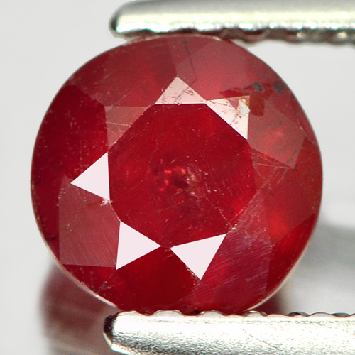 1.19 Ct. Attractive Round Natural Gemstone Pinkish Red Ruby Madagascar