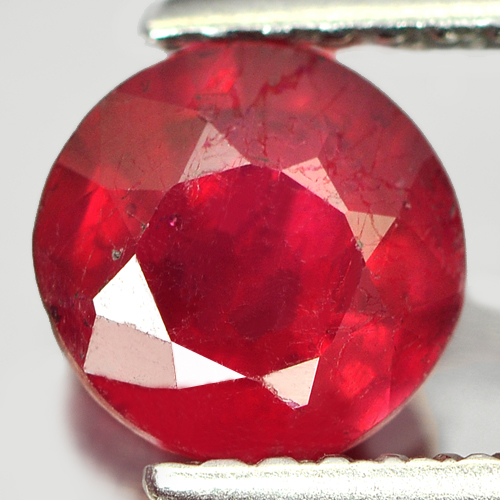 1.26 Ct. Delightful Round Natural Gemstone Pinkish Red Ruby Madagascar