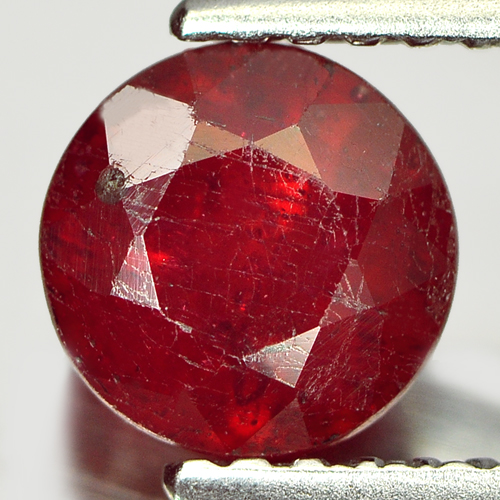 1.56 Ct. Beautiful Round Natural Gem Pinkish Red Ruby Madagascar