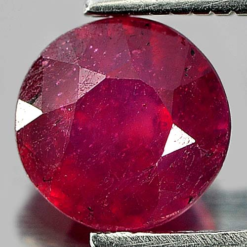 1.38 Ct. Round Natural Gemstone Pinkish Red Ruby From Madagascar