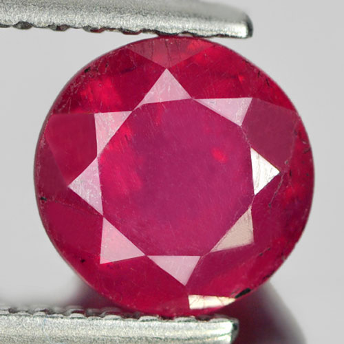 1.60 Ct. Round Shape Natural Gem Pinkish Red Ruby Madagascar