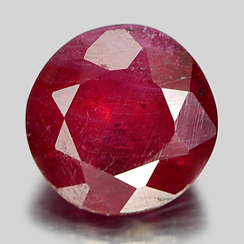 1.13 Ct. Attractive Round Shape Natural Gemstone Pinkish Red Ruby