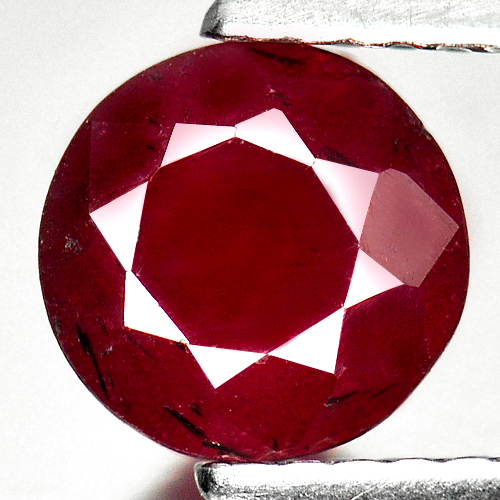 1.47 Ct. Round Gem Natural Purplish Red Red Ruby Madagascar