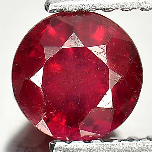 1.24 Ct. Nice Round Gem Natural Purplish Red Red Ruby Madagascar