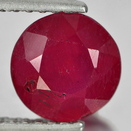 1.66 Ct. Round Natural Purplish Red Red Ruby Madagascar