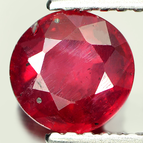 1.27 Ct. Nice Round Natural Purplish Red Red Ruby Madagascar Gem
