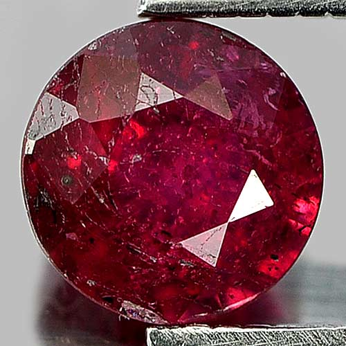 1.25 Ct. Good Round Natural Gem Purplish Red Red Ruby Madagascar