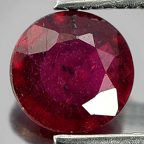 1.10 Ct. Round Natural Gem Purplish Red Red Ruby Madagascar