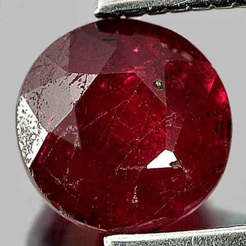 1.21 Ct. Round Shape Natural Gem Purplish Red Red Ruby Madagascar
