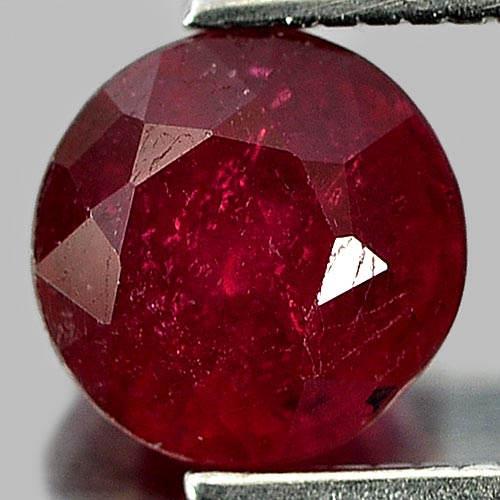 1.33 Ct. Round Shape Natural Purplish Red Red Ruby Madagascar