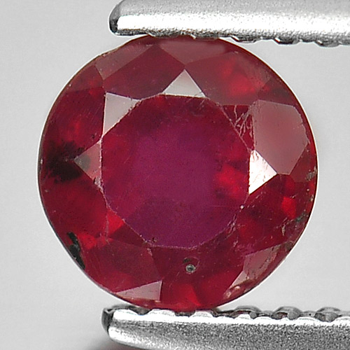 1.02 Ct. Round Natural Gem Pinkish Red Ruby From Madagascar