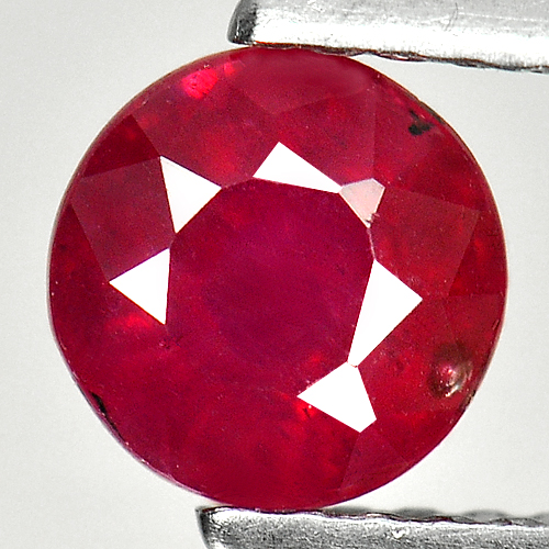 1.15 Ct. Good Round Natural Gem Pinkish Red Ruby Madagascar
