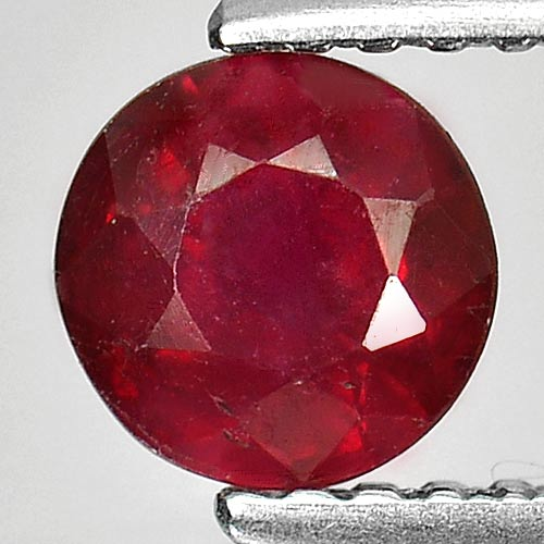 0.86 Ct. Delightful Round Natural Gem Red Ruby Madagascar