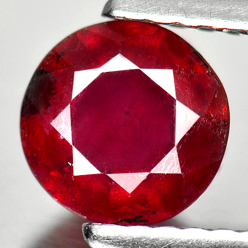 1.07 Ct. Beautiful Round Shape Natural Gem Pinkish Red Ruby Madagascar