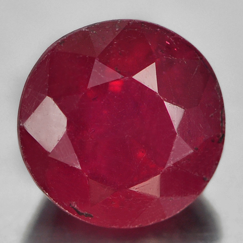 1.00 Ct. Calibrate Size Round Natural Gem Red Ruby Madagascar