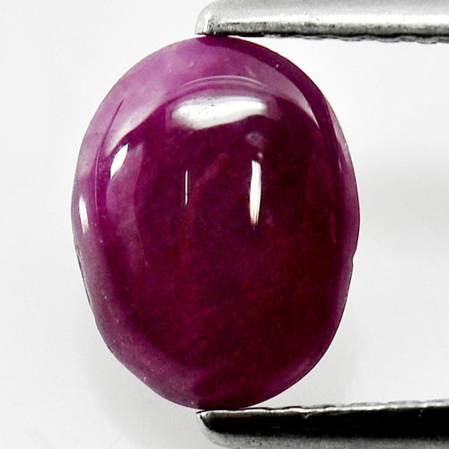 1.55 Ct. Oval Cabochon Shape Natural Gemstone Red Pink Ruby Unheated