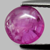 1.78 Ct. Round Cabochon Shape 7.1 mm. Natural Gemstone Purplish Pink Ruby