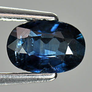0.77 Ct. Oval Shape Natural Gem Blue Sapphire Thailand