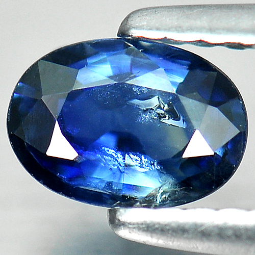 0.68 Ct. Oval Shape Natural Gem Blue Sapphire Thailand
