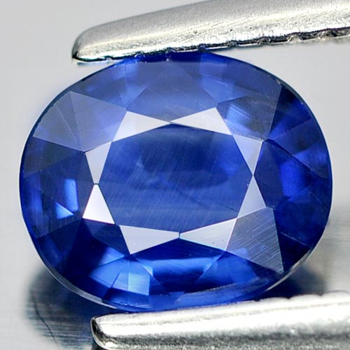0.72 Ct. Oval Shape Natural Gem Blue Sapphire Size 6 x 5 mm. From Thailand