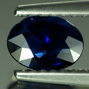 0.63 Ct. Oval Shape Natural Gem Blue Sapphire Thailand