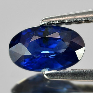 0.55 Ct. Oval Shape Natural Gem Blue Sapphire Thailand