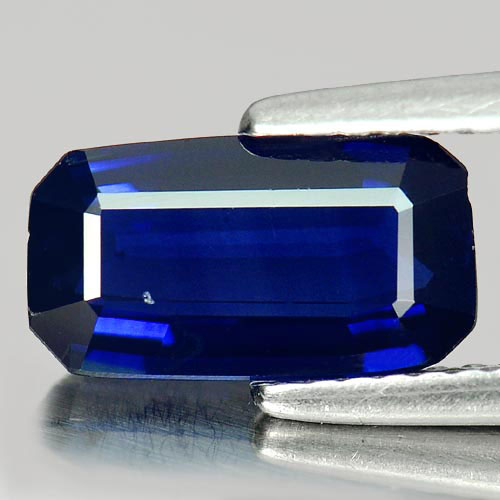 Blue Sapphire 2.19 Ct. Octagon Shape 10.4 x 5.7 Mm. Natural Gemstone