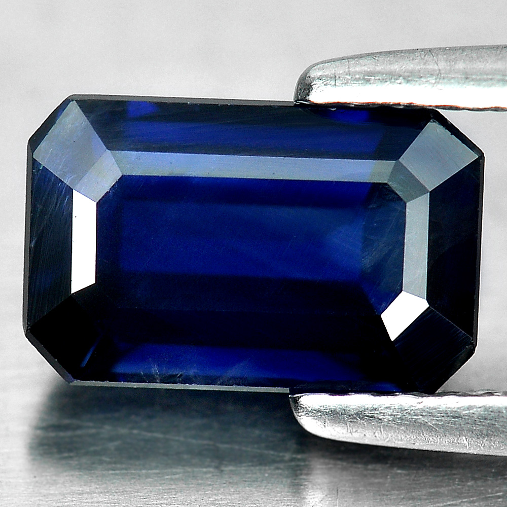 Certified 2.14 Ct. Natural Blue Sapphire Gemstone Octagon Shape