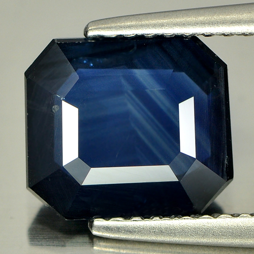 2.90 Ct. Natural Gemstone Blue Sapphire Octagon Shape 8.9 x 7.8 Mm From Thailand