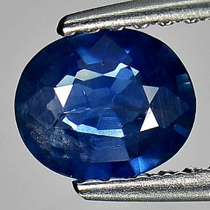 0.71 Ct. Natural Gem Blue Sapphire Oval Shape Bangkaja Thailand