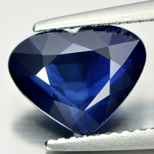 Certified 2.75 Ct. Good Natural Blue Sapphire Gem Heart Shape Madagascar
