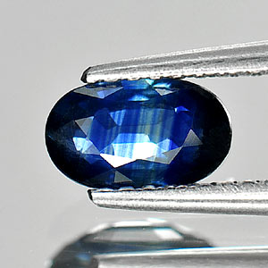 0.78 Ct. Matey Oval Shape Natural Gemstone Blue Sapphire Thailand