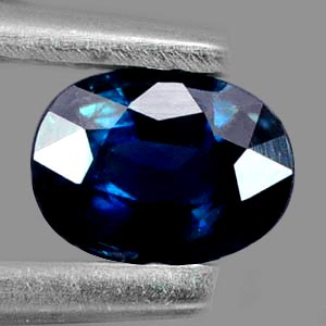 0.59 Ct. Nice Natural Blue Sapphire Gemstone Oval Shape
