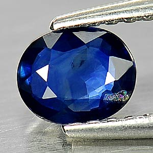 0.50 Ct. Oval Shape Natural Blue Sapphire Gemstone Thailand