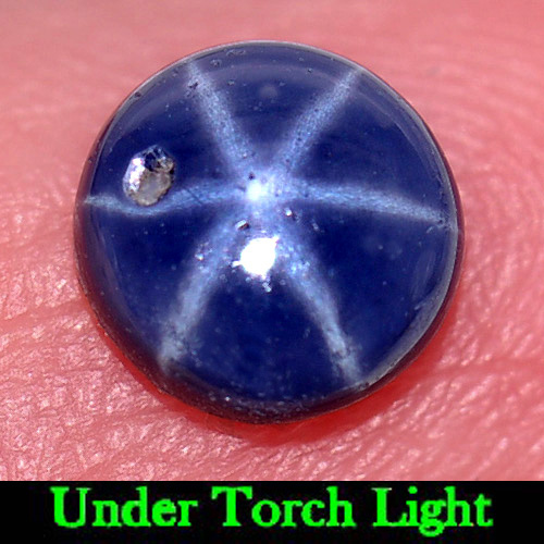1.16 Ct. Alluring Gem Round Cabochon Natural Blue Star Sapphire 6 Rays