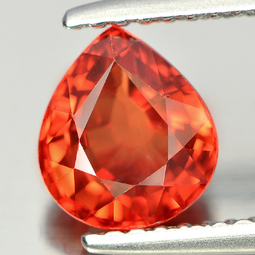 Certified 1.65 Ct. Clean Natural Orange Songea Sapphire Pear Shape