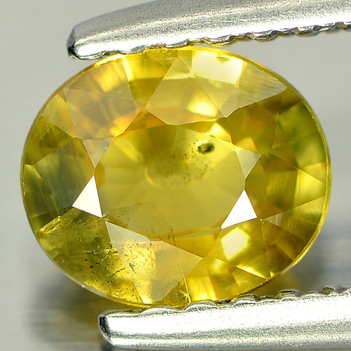 0.72 Ct. Adorable Oval Shape Natural Greenish Yellow Sapphire From Thailand