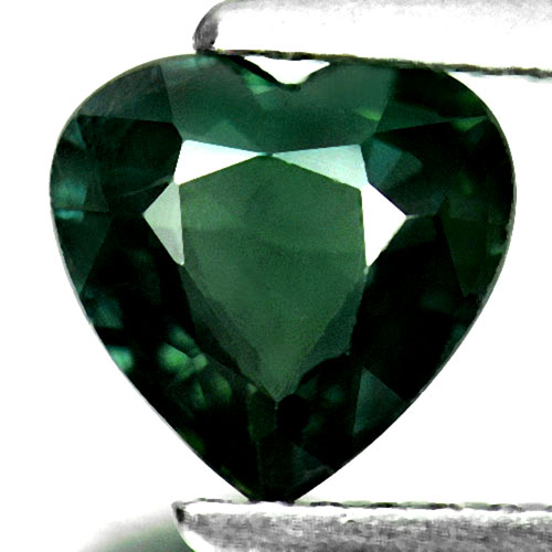 1.36 Ct. Natural Gemstone Heart Shape Green Sapphire From Thailand