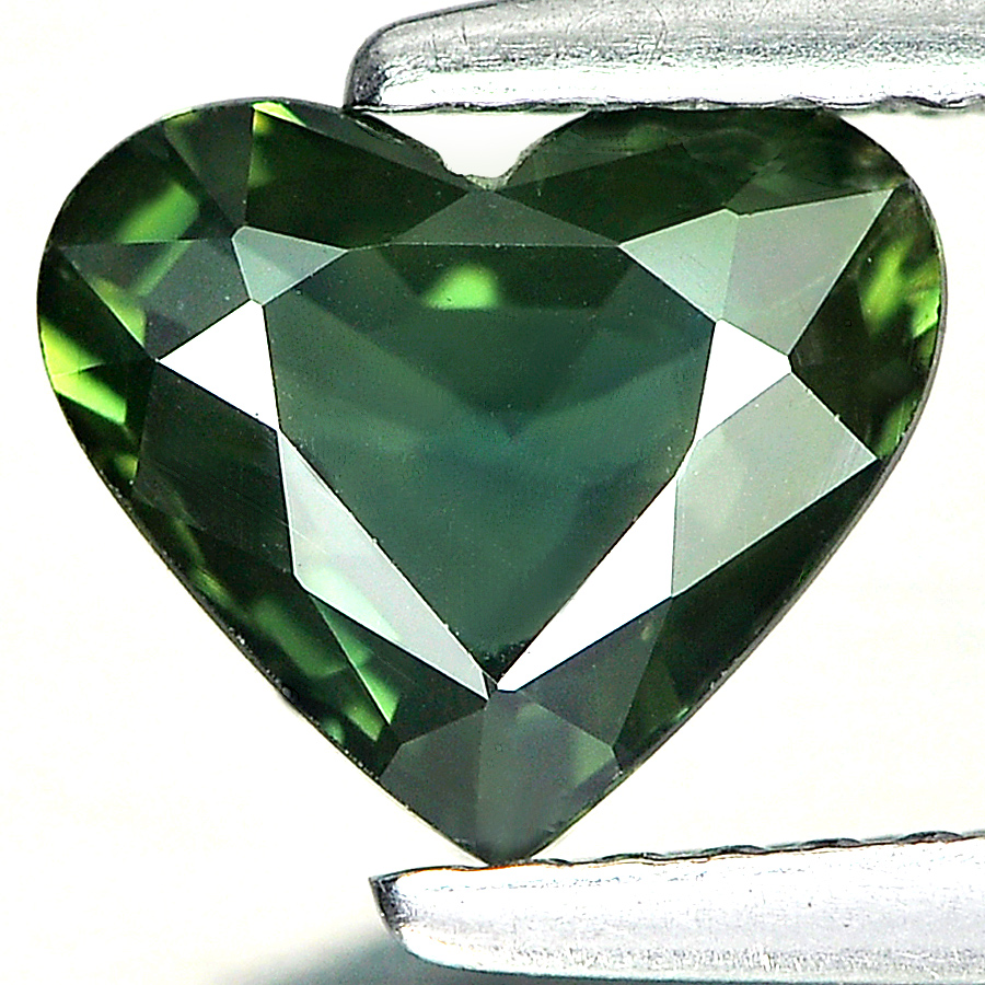 Good Color 1.45 Ct. Heart Shape Gemstone Natural Green Sapphire Thailand