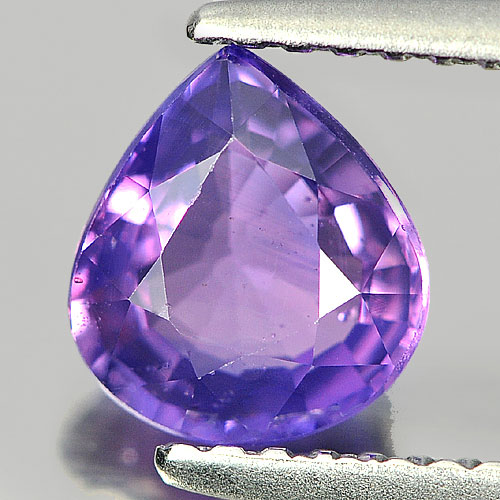 Certified Unheated 1.26 Ct. Pear Shape Purple Sapphire