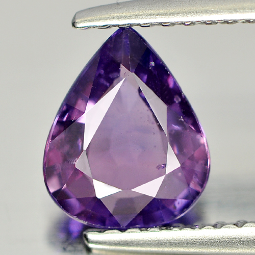 Certified Unheated Gemstone 1.32 Ct. Natural Pear Shape Pinkish Violet Sapphire