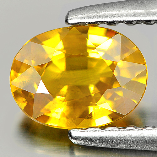 0.73 Ct. Oval Natural Greenish Yellow Sapphire Thailand