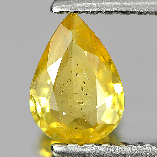 0.59 Ct. Pear Shape Natural Yellow Sapphire Thailand