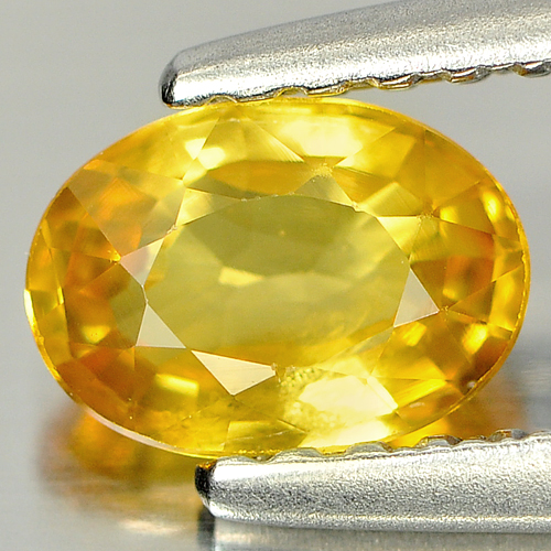 0.70 Ct. Oval Shape Natural Yellow Sapphire Thailand Gemstone