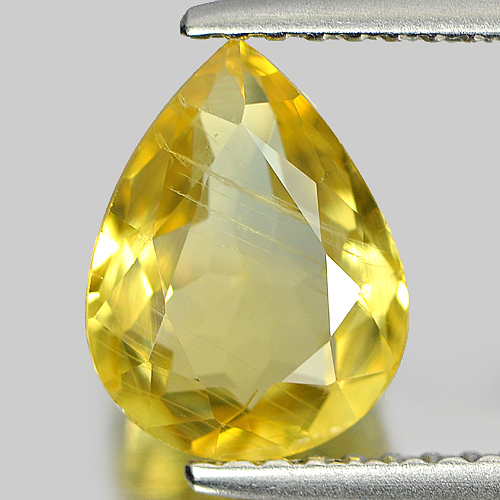 1.97 Ct. Pear Shape Natural Blueish Yellow Sapphire Gem