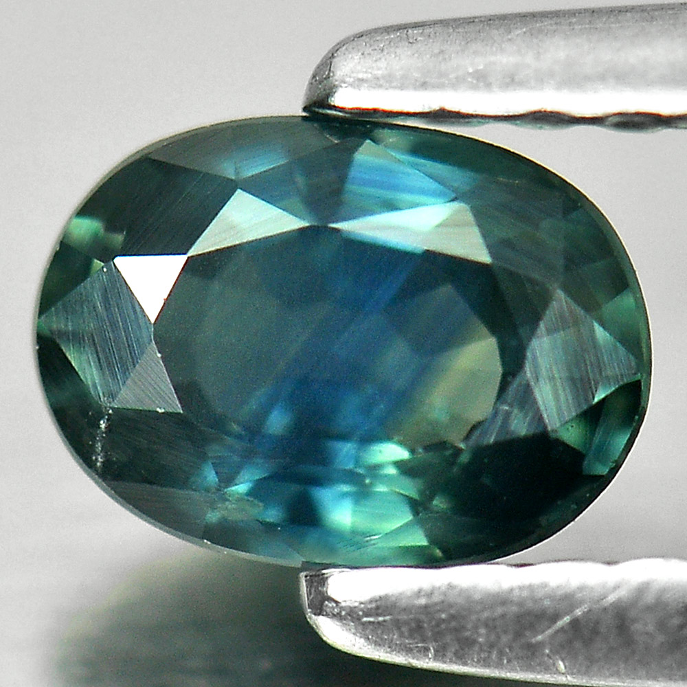 0.61 Ct. Oval Shape Natural Greenish Blue Sapphire Gemstone
