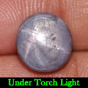 4.04 Ct. Natural Gem Blue 6 Rays Star Sapphire Round Cabochon Unheated