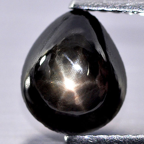 2.12 Ct. Pear Cabochon Natural Gemstone Lucky 6 Ray Black Star Sapphire