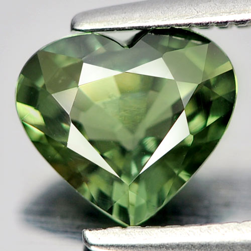 Green Sapphire 0.96 Ct. Heart Shape Natural Gemstone From Thailand
